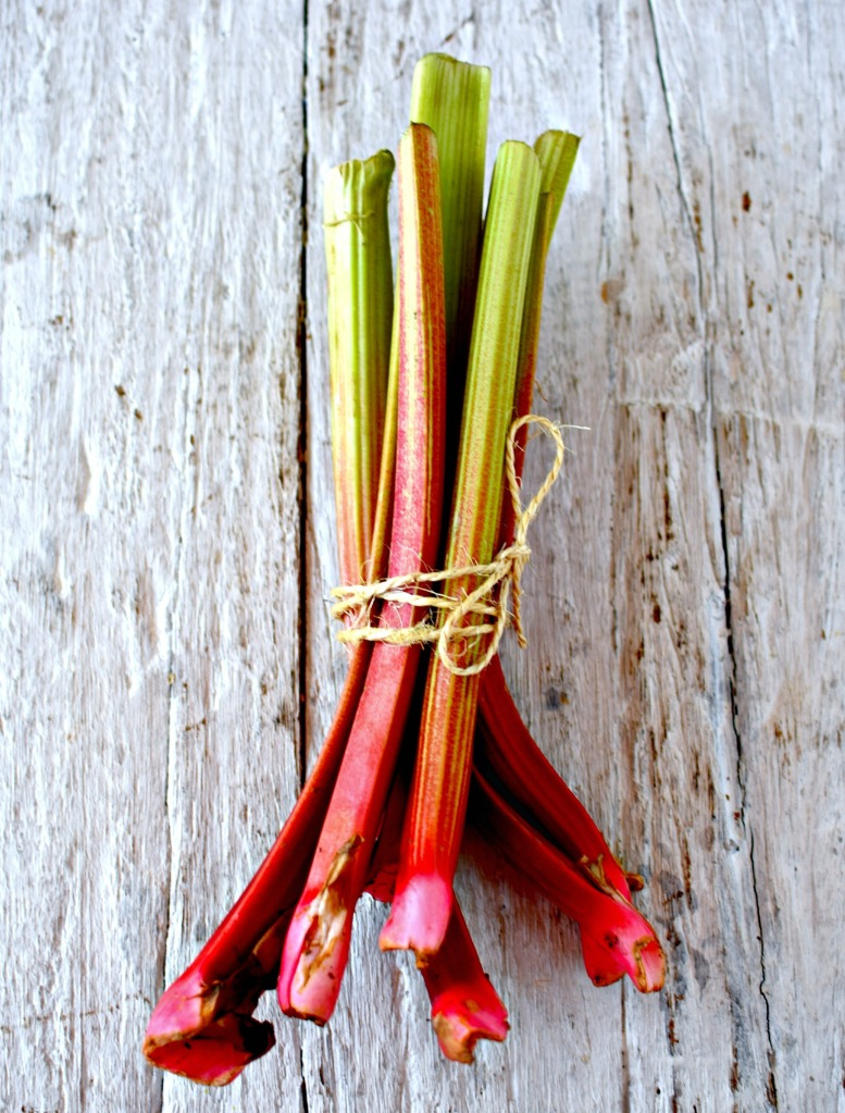 fresh garden rhubarb by food to glow