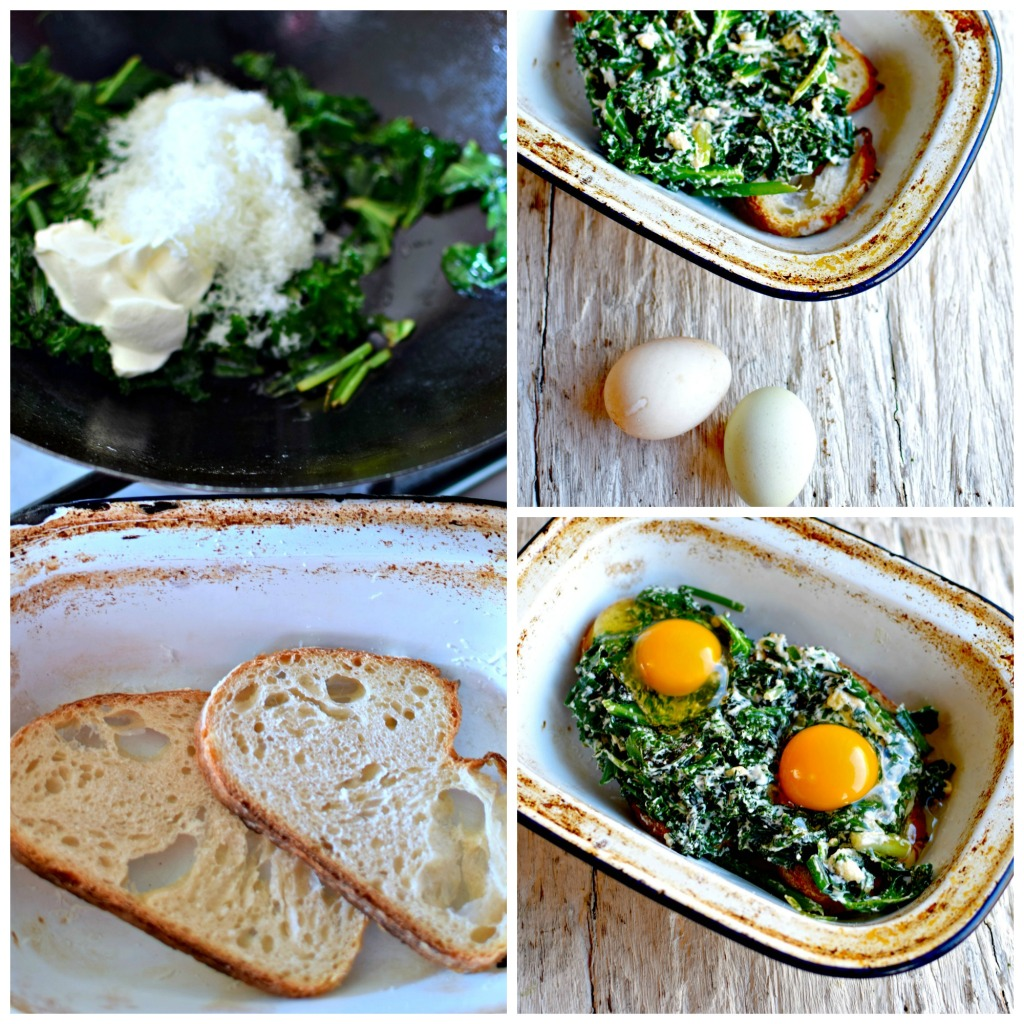 creamy-kaleand-wild-garlic-toast-bake by food to glow