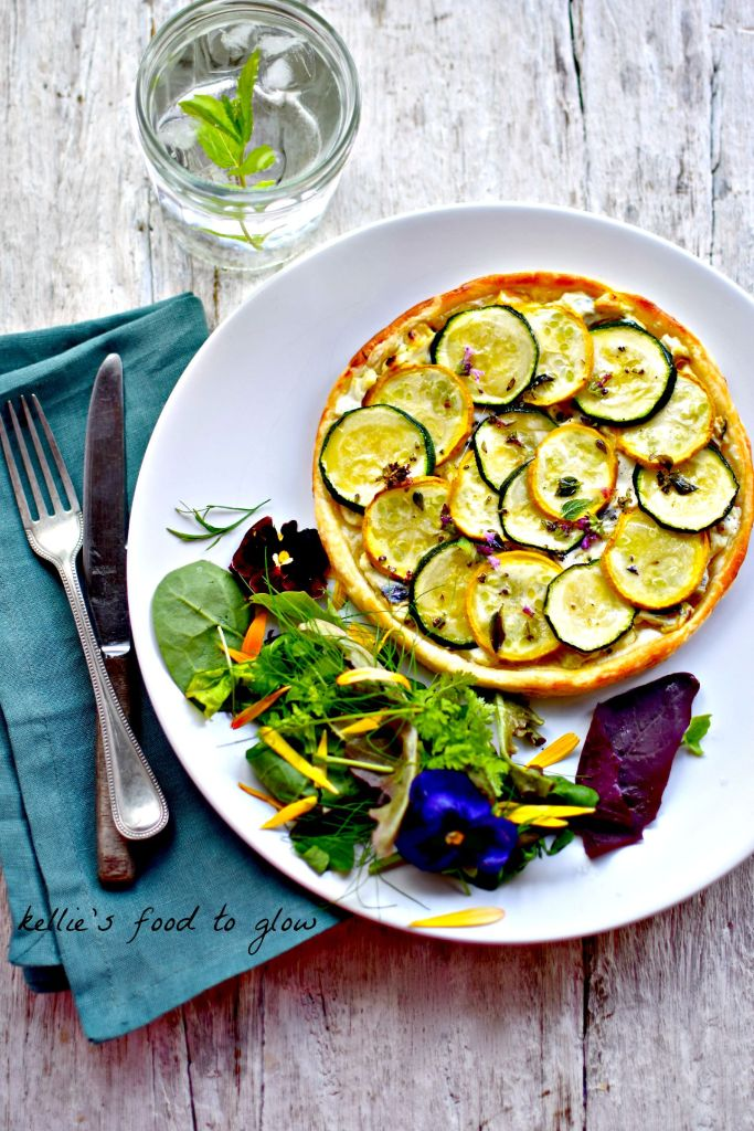 zucchini and chard tart // food to glow