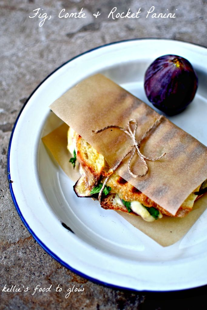 fig, comte cheese & rocket panini