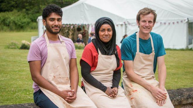 The three finalists: Tamar Ray, Nadiya Hussein and Ian Cumming. Image: BBC