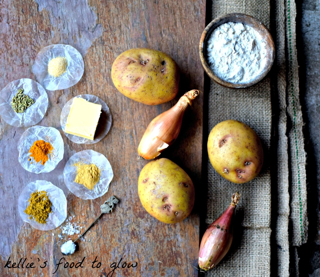 ingredients for onion bhaji potato scones