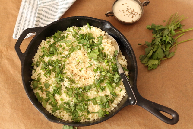 Herbed Cauliflower Rice by Recipes From A Pantry