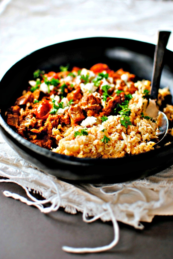 Arabic Cauliflower and Walnuts with Cauliflower Couscous