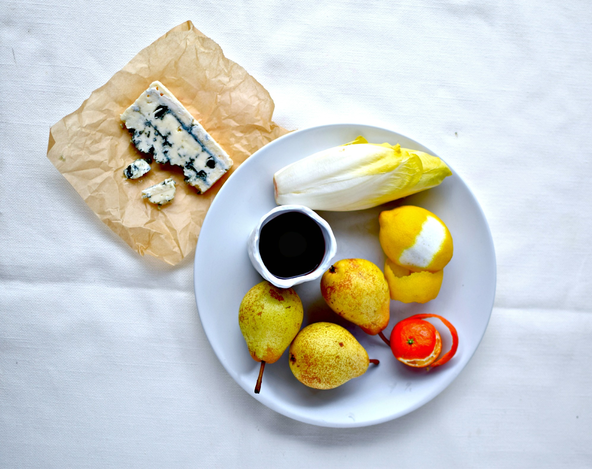 Easy holiday starter recipe port poached pears belgian endive making port poached pear salad wtih blue cheese and braised belgian endive forumfinder Choice Image
