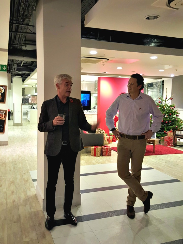 Phillip Scofield and Rupert Ellwood, Waitrose #MakesChristmas