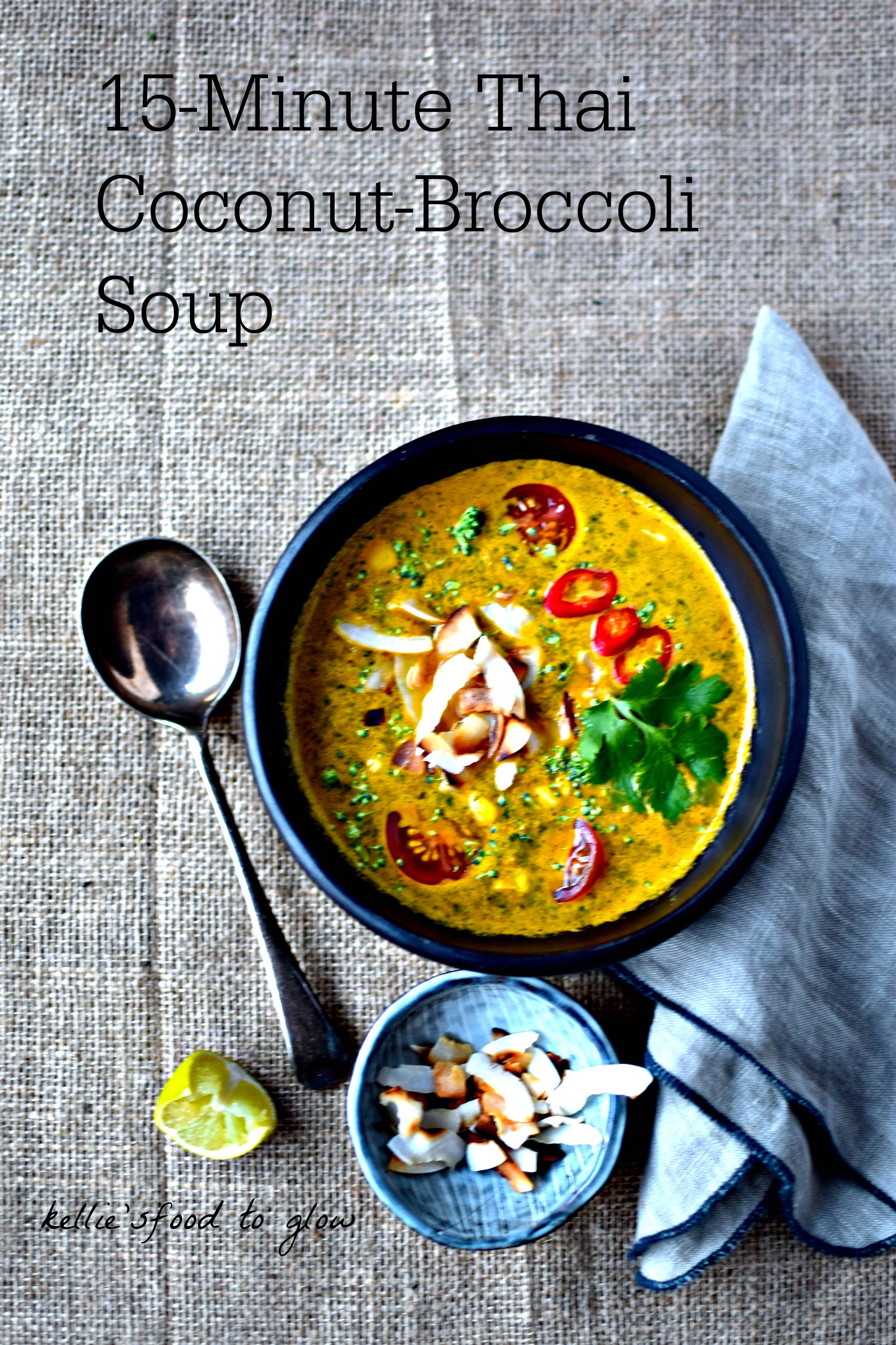 15-Minute Thai Coconut-Broccoli Soup Recipe food to glow