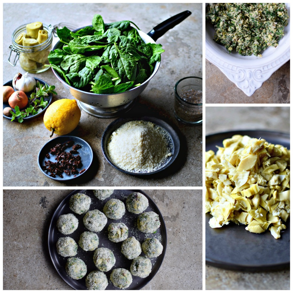 A crunchy exterior holds the soft, pull-apart artichoke heart & spinach interior of these easy-to-make, vegan and gluten-free polpettes. Although delicious on their own as a snack or appetizer, these Italian-inspired faux meatballs are perfect with my easy marinara sauce over your favourite pasta. Treat yourself and make extra of everything! A family- and guest-friendly recipe.