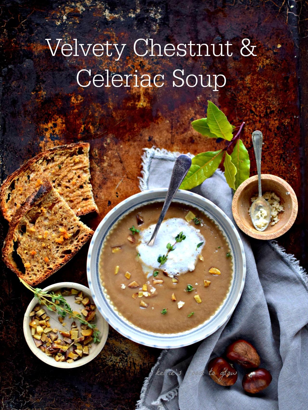 Velvety Chestnut and Celeriac Soup with Horseradish-Truffle Toast ...