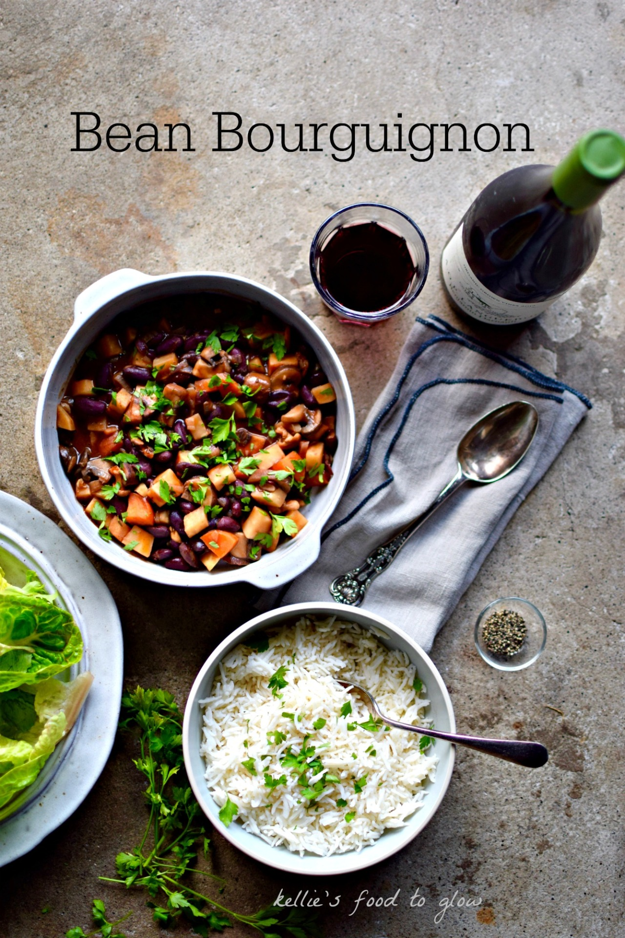 Bean bourguignon a vegan comfort food recipe food to glow a hearty and rich cold weather comfort blanket of a recipe with red wine forumfinder Images