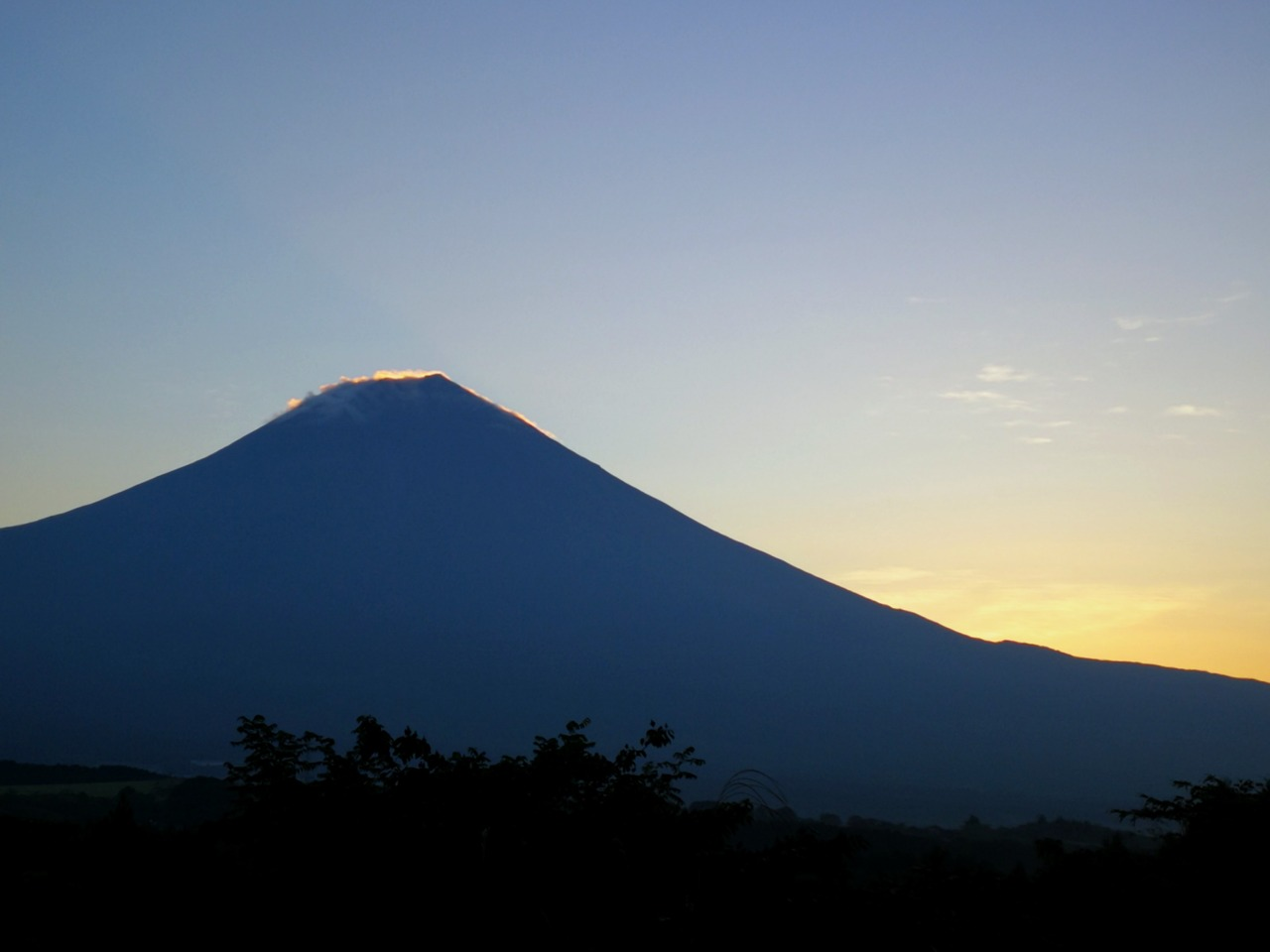 sunrise over mount fuji by kellie anderson