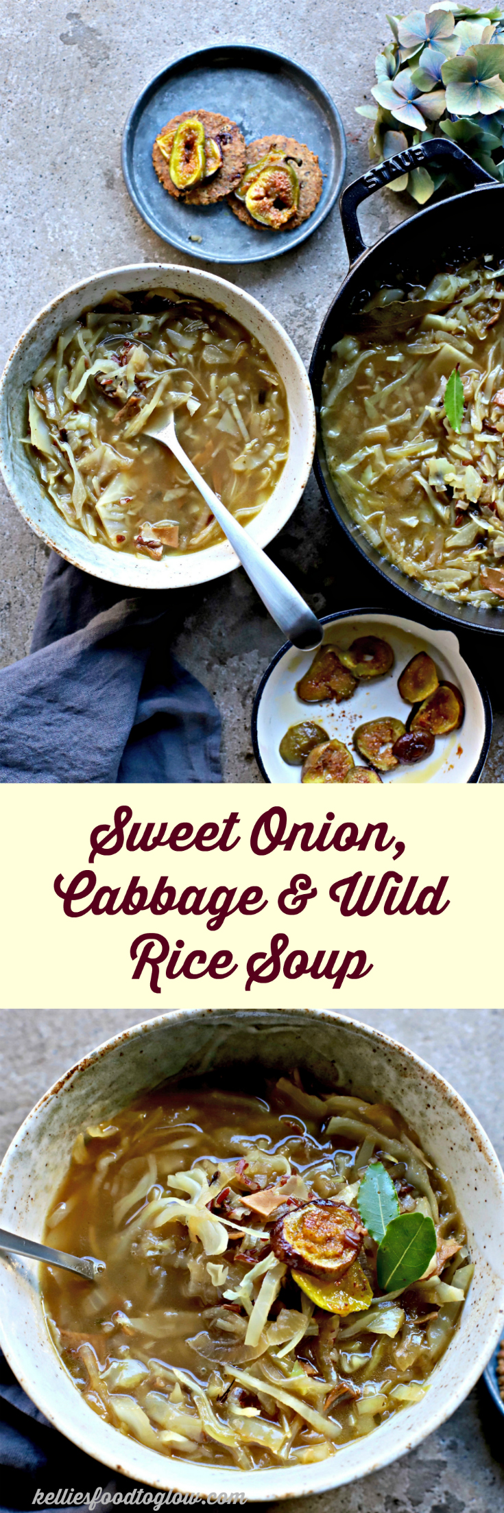 Sweet Onion, Cabbage and Wild Rice Soup | food to glow