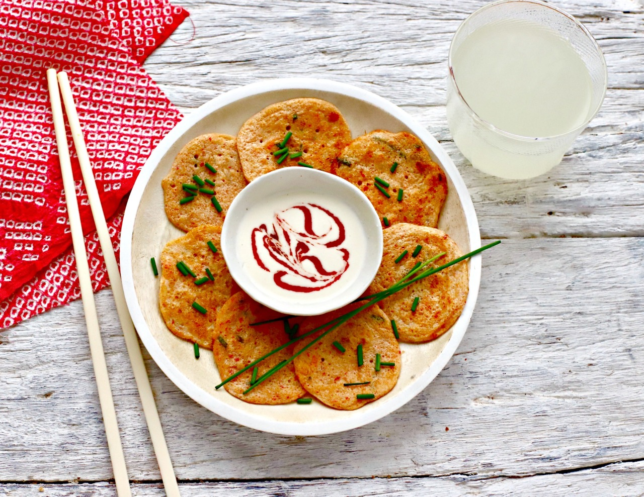 Smoked paprika and vegan chorizo turn these kimchi pancakes into a craveable appetizer, lunch or light supper. Perfect for Valentine's Day and Pancake Day, too.