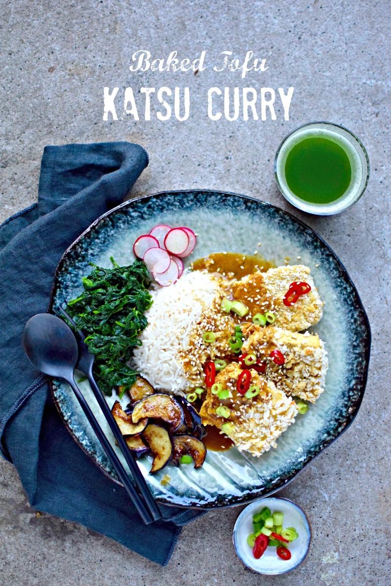 How To Make Crispy Baked Tofu Katsu Curry {vegan recipe